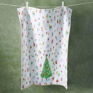 Anthro Kong-Yew Wong Tis The Season Dish Towel